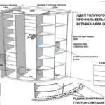 Эскиз радиусного шкафа купе от компании Сфера купе