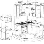 Эскиз кухни с размерами от Сферы купе