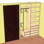 Проект встроенного шкафа купе