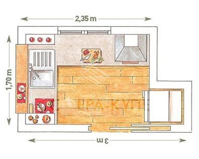 L-образная кухня