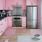 Небольшая L-образная кухня
