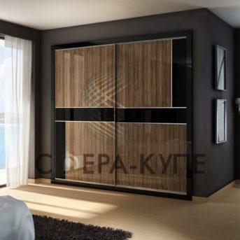 Встроенный двустворчатый шкаф купе