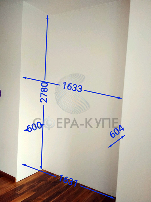 Шкаф с фасадом МДФ Эмаль