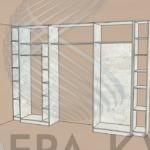 шкаф с распашными дверьми купе